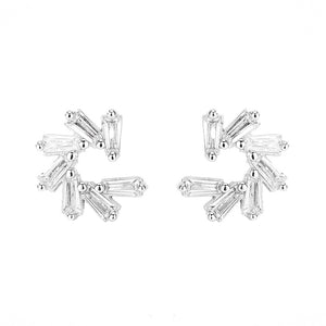 ZZZZZ123 925 Sterling Silver Moonstone CZ Gorgeous Earrings