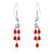 925 Sterling Silver CZ Red Agate Peafowl Earrings Wholesale Lots