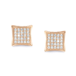 Fabulous Rose Gold Plated 925 Sterling Silver CZ Earrings Wholesale