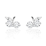 Lovely Cherry 925 Sterling Silver Cubic Zirconia Earrings Wholesale