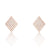Rose Gold Plated 925 Sterling Silver CZ Rhombus Earrings Wholesale