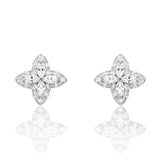 5ps/Lot Charming CZ Sterling Silver Earrings Stud