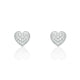 Fabulous Sterling Silver CZ 8mm Heart Earrings Wholesale Lots