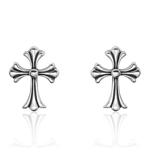 Sterling Silver Oxidized Finish Cross Earrings Wholesale Lots