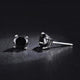 Sterling Silver 4 mm CZ Black Stone Stud Earrings Wholesale Lots