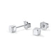 Handmade Square Post Silver Stud Earrings Wholesale Lots