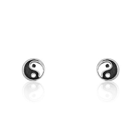 Sterling Silver Tiny Tai Chi Earrings Wholesale Lots