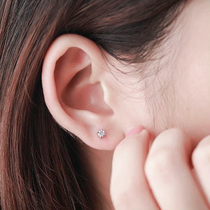Sterling Silver 3 mm Cubic Zirconia Earrings Studs Wholesale Lots 2