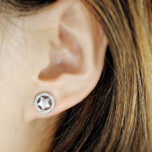 5ps/Lot Cz Sterling Silver Star Earrings Studs Wholesale 2