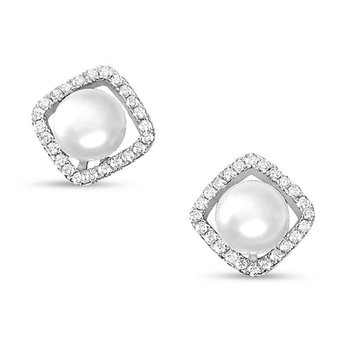 Sterling Silver Freshwater Cultured Pearl Earrings Wholesale