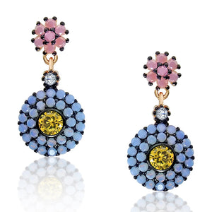 Natural Quartz and Opal Flower Earrings Wholesale