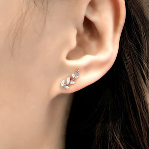 Tiny Leaf Earrings Studs Wholesale 2