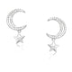 Sterling Silver Stars Dangling Earrings Wholesale