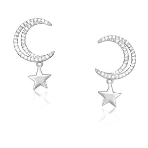 Big Moon and Star Earrings Dangle Wholesale