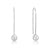 Round CZ Sterling Silver Simple Hook Dangle Earrings Wholesale