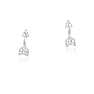 Small Tiny Arrow Silver Earrings Wholesale