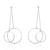 Sterling Silver Big Circle Round Drop Earring Wholesale