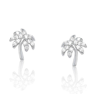 Sterling Silver Tropical Palm Tree Earrings Wholesale