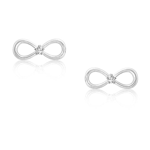 Sterling Silver Mini Bow Earrings Wholesale