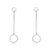 Sterling Silver CZ Circle Round Earring Dangling Wholesale
