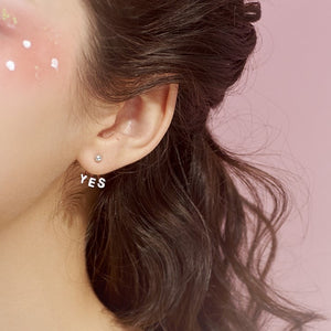 Sterling Silver Unique Asymmetric earrings Wholesale
