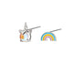 Rainbow and Unicorn 925 Sterling Silver Stud Earring Wholesale 8