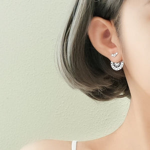 Sterling Silver Irregular Geometric Stud Earrings Wholesale