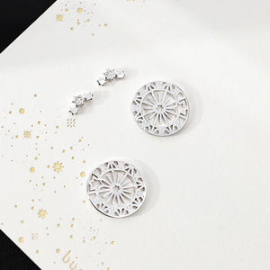 Sterling Silver Irregular Geometric Stud Earrings Wholesale 2