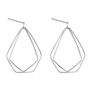 Sterling Silver Irregular Geometric Earrings Dangle Wholesale