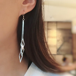 Dazzling Shine High Polished Silver Long Tassel Drop Earrings Wholesale