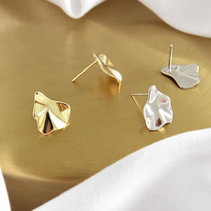 Sterling Silver Irregular Geometric Earrings Studs Wholesale 2