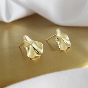 Sterling Silver Irregular Geometric Earrings Studs Wholesale 3