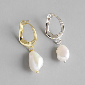 Natural Baroque Pearl Dangle Drop Earrings Wholesale
