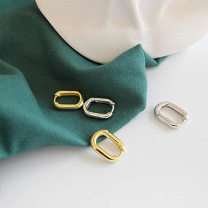 Sterling Silver Square Hoop Earrings Wholesale 3