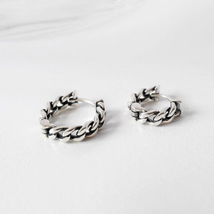 Sterling Silver Vintage Chain Hoop Earrings Wholesale