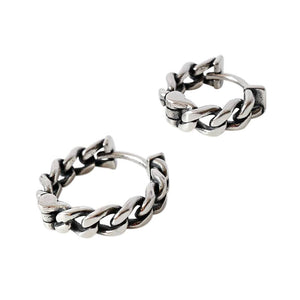 Sterling Silver Vintage Chain Hoop Earrings Wholesale 4