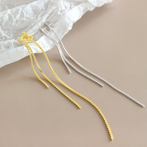 Fashion Rose Gold/Silver Long Tassel Earrings Wholesale