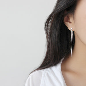 Fashion Rose Gold/Silver Long Tassel Earrings Wholesale 5