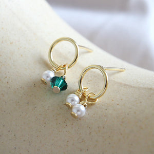 Sterling Silver 18K Gold Plated Charms Drop Earrings Wholesale