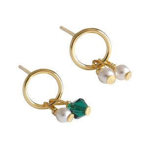 Sterling Silver 18K Gold Plated Charms Drop Earrings Wholesale 5