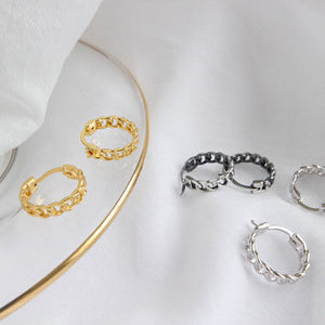 Sterling Silver Weave Wrap Hoop Earrings Wholesale 2