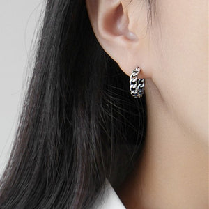 Sterling Silver Weave Wrap Hoop Earrings Wholesale 3