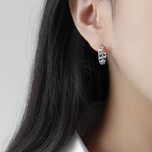 Sterling Silver Weave Wrap Hoop Earrings Wholesale 5