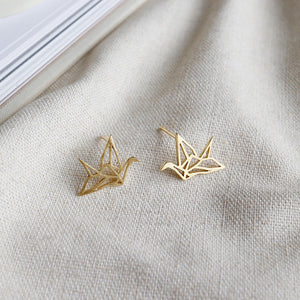 Sterling Silver Paper Cranes Stud Earrings Wholesale 2