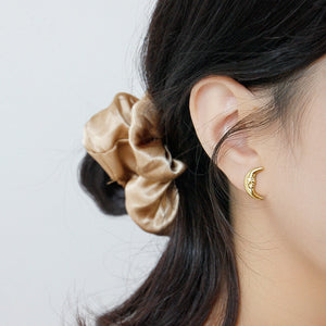 Gold Plated Sterling Silver Moon Earrings Wholesale 3
