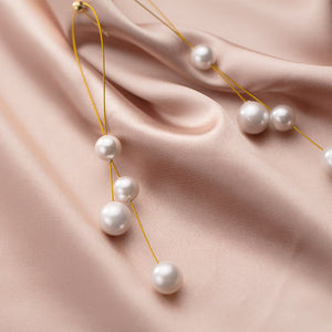Elegant 925 Sterling Silver Pearl Earrings Wholesale 2