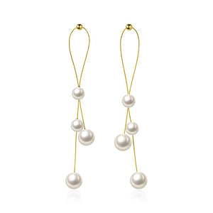 Elegant 925 Sterling Silver Pearl Earrings Wholesale 3