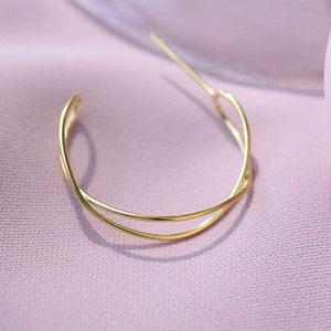 Minimalist Silver Hoop Earrings Wholesale 2