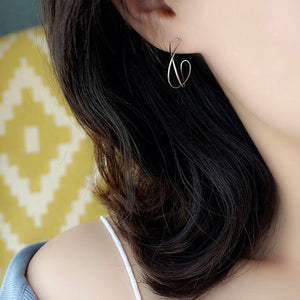 Minimalist Silver Hoop Earrings Wholesale 4