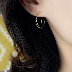 Minimalist Silver Hoop Earrings Wholesale 5